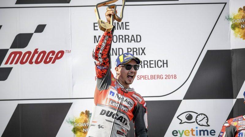 MotoGP, un grande Jorge Lorenzo trionfa in Austria
