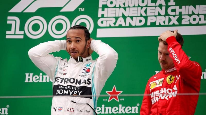 Formula 1 GP Shanghai, vittoria di Lewis Hamilton, davanti a Bottas e Vettel. Quinto Leclerc