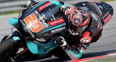 MotoGP, Quartararo chiude al comando le libere di Silverstone