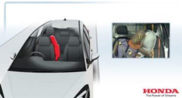 Nuova Honda Jazz, l'esclusivo airbag centrale completa la dotazione di sicurezza