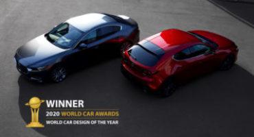 Mazda3, nel segno della filosofia stilistica Kodo, vince il Premio World Car Design of the Year 2020