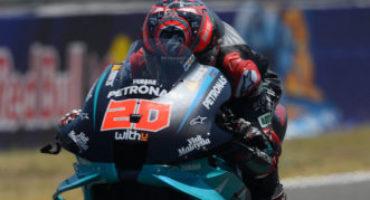 MotoGP, GP ANDALUSIA, Quartararo firma la seconda vittoria stagionale. Terzo Rossi